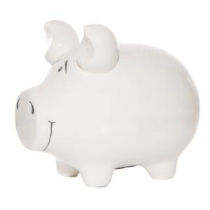 KCG Sparschwein blanko weiß Mittelschwein